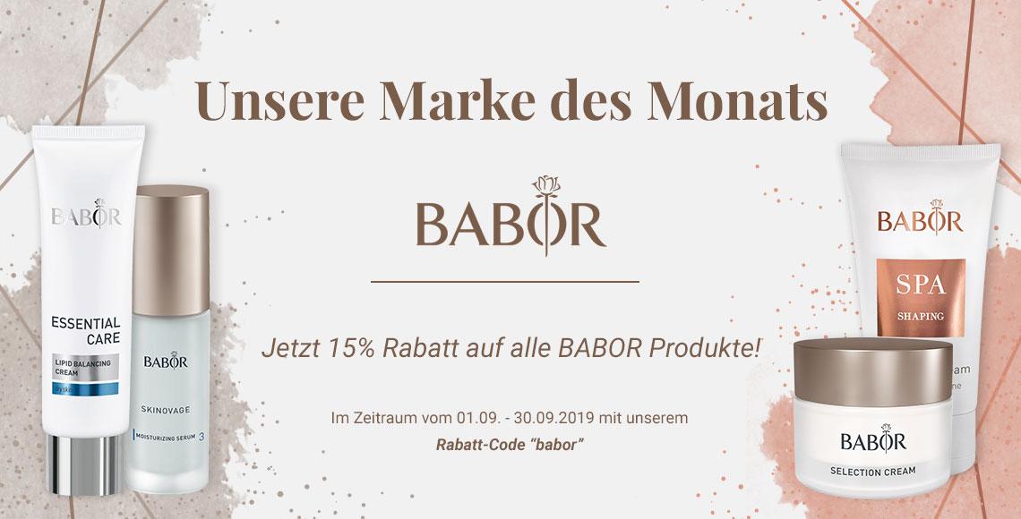 Beautykaufhaus Onlineshop - Marke des Monats BABOR